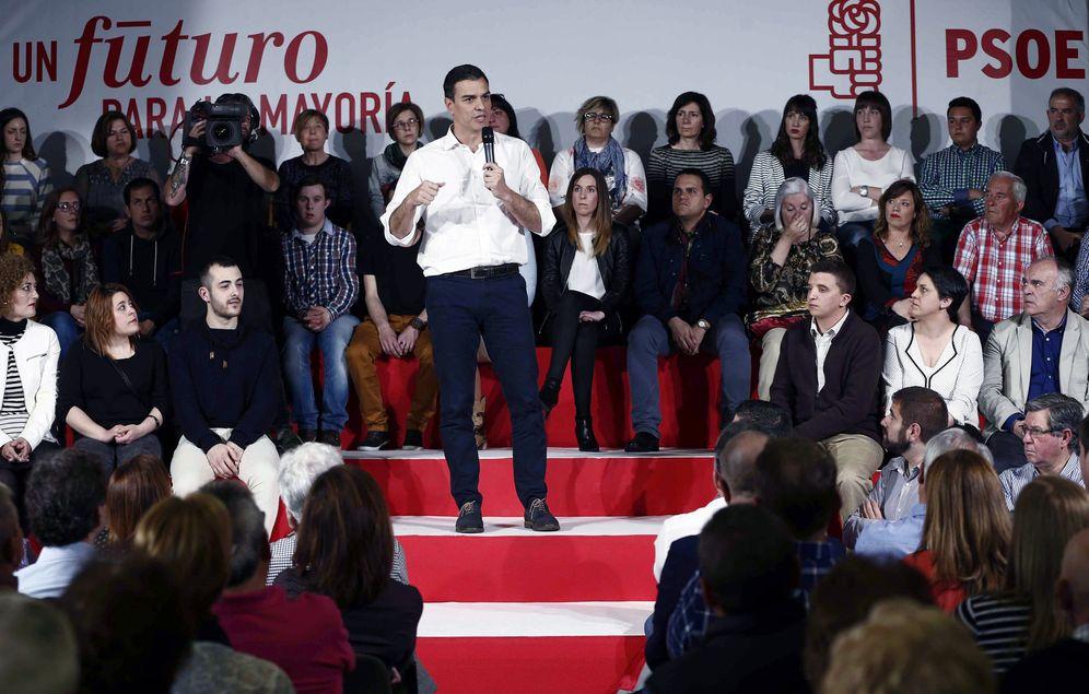 Foto: Pedro Sánchez, en un acto de precampaña el pasado 9 de mayo en Azagra, Navarra. (EFE)