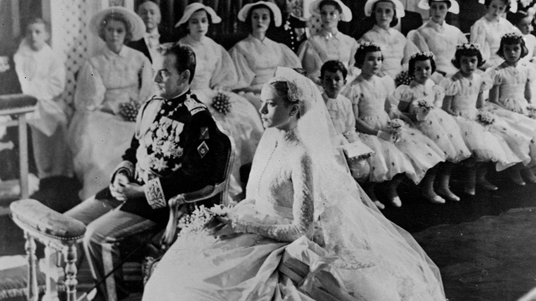 Grace Kelly, el día de su boda. (Cordon Press)