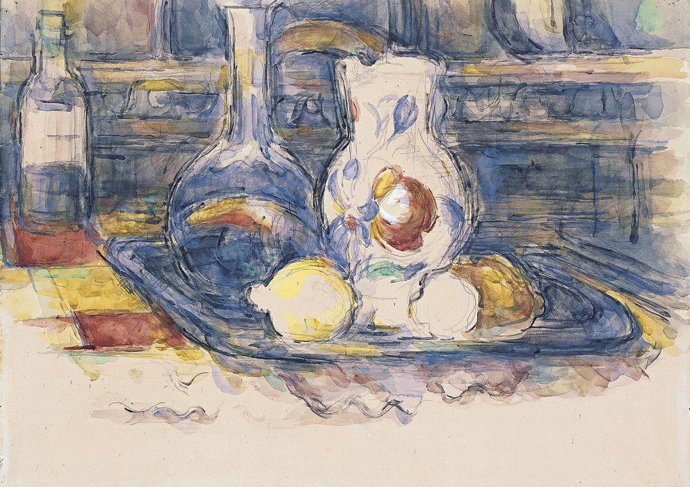 Foto: 'Botella, garrafa, jarro y limones', Paul Cézanne.