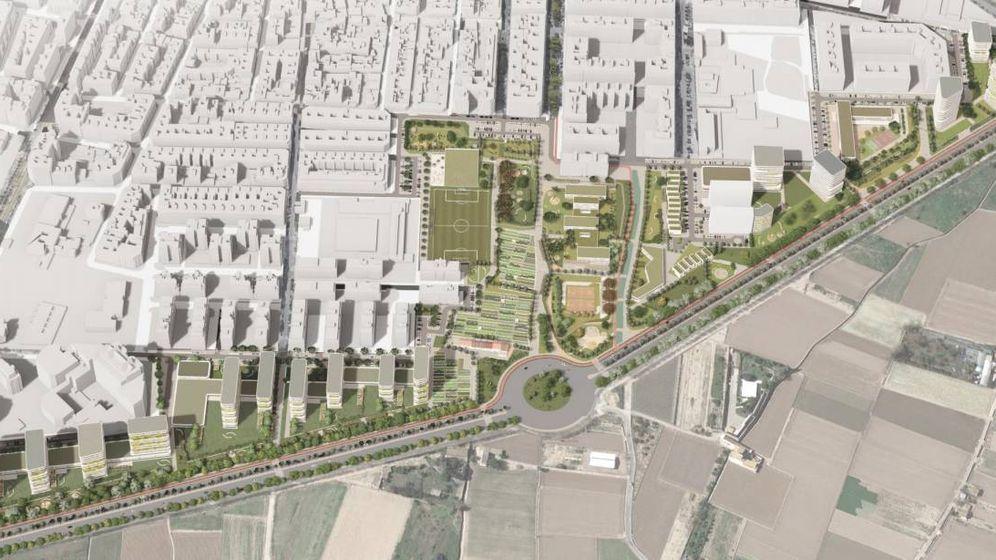 Foto: El proyecto de urbanización del sector del PAI de Benimaclet propuesto por Metrovacesa.