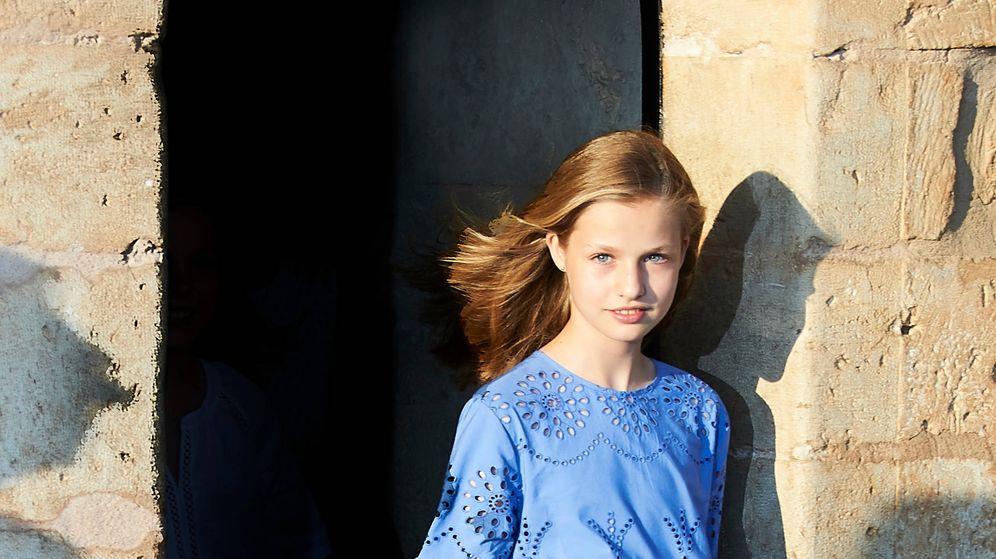 Foto: La princesa Leonor durante el posado. (Limited Pictures)