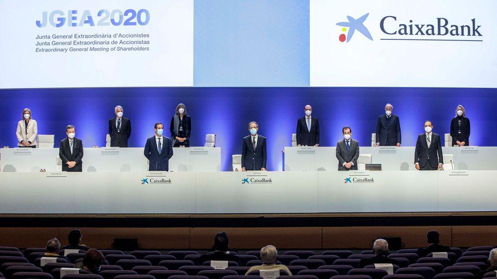 Foto: Junta de accionistas de CaixaBank. (EFE)