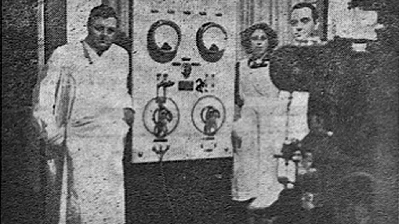 Filek en una foto de 1940 publicada en 'El diario de Palencia'