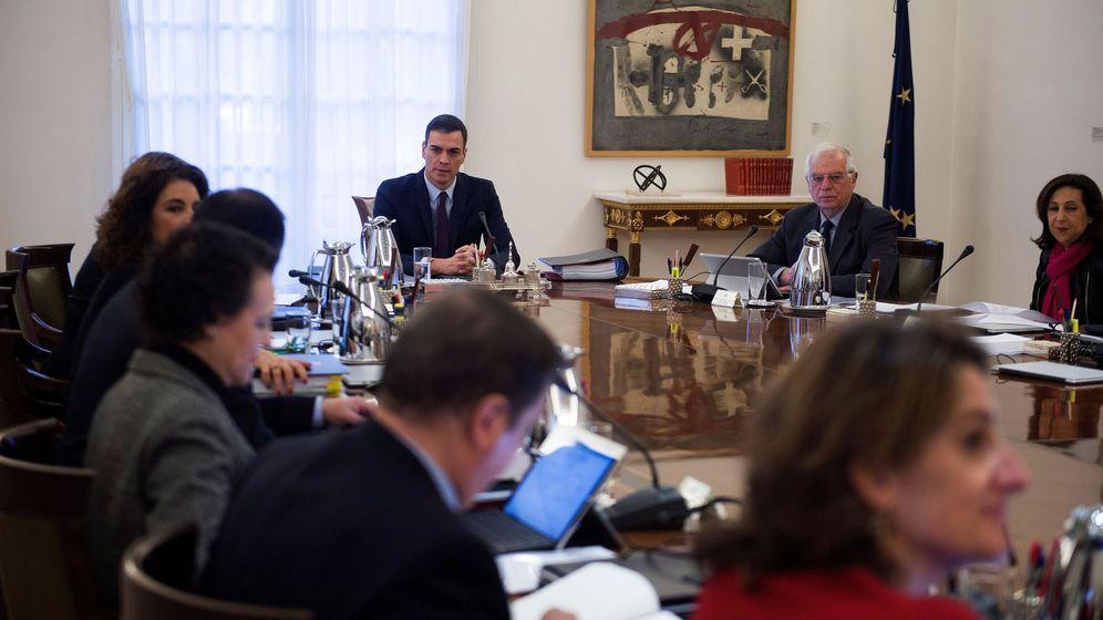 Foto: El Consejo de ministros extraordinario. (EFE)