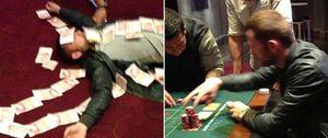 Un jugador del Sunderland celebra el descenso del Wigan 'forrándose' en el casino