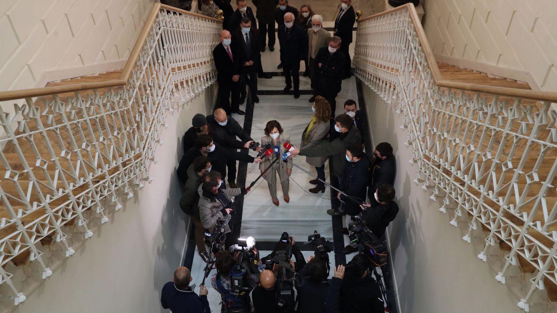 a vicepresidenta primera del Gobierno, ministra de la Presidencia, Relaciones con las Cortes y Memoria Demorática, Carmen Calvo. (EFE)