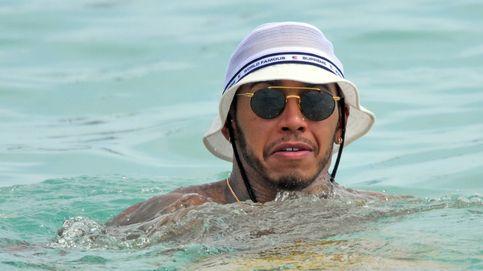 Lewis Hamilton, 'un 'rodríguez' cualquiera, pero en las playas de Barbados