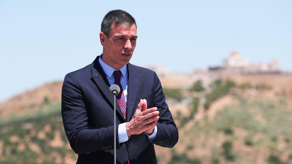 Foto: Pedro Sánchez, presidente del Gobierno, este miércoles en Elvas, en la frontera con Portugal. (EFE)
