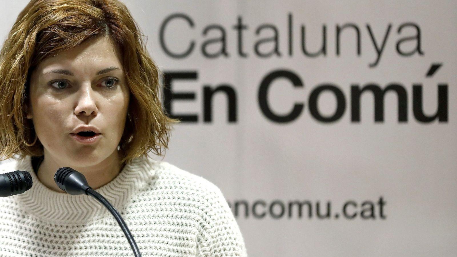 Foto: La portavoz de Catalunya en Comú, Elisensa Alamany, durante una comparecencia pública. (EFE)