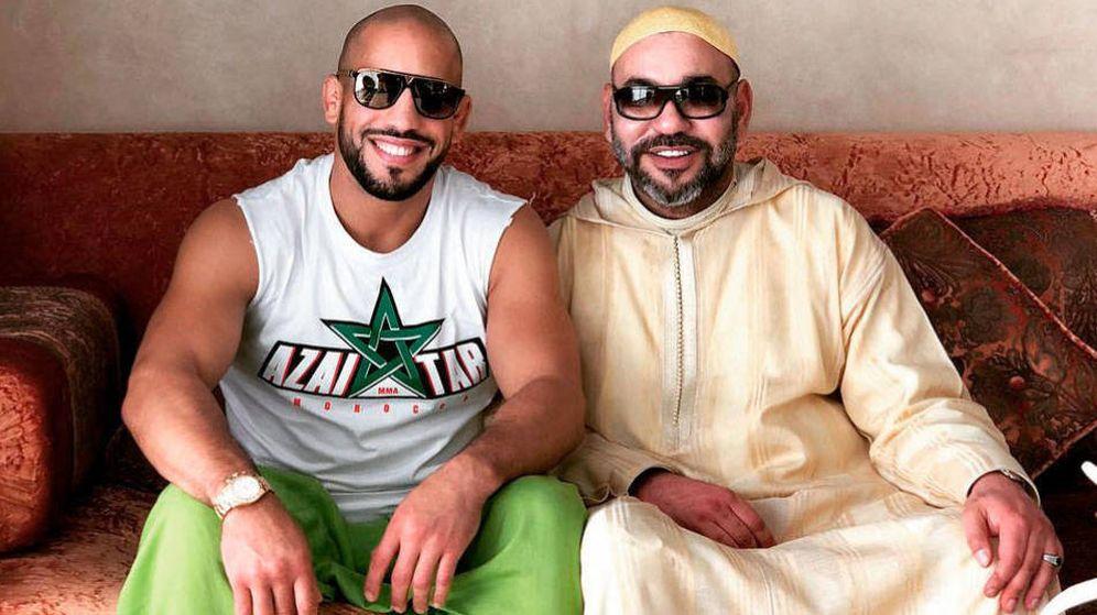 Foto: El boxeador conocido como Gladiator y Mohamed VI. (Instagram)