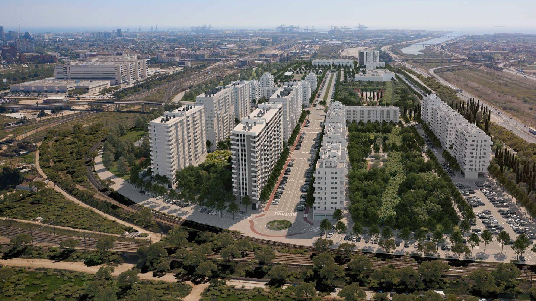 Figuración de Turianova, el proyecto impulsado por AQ Acentor en el sur de la ciudad de Valencia.