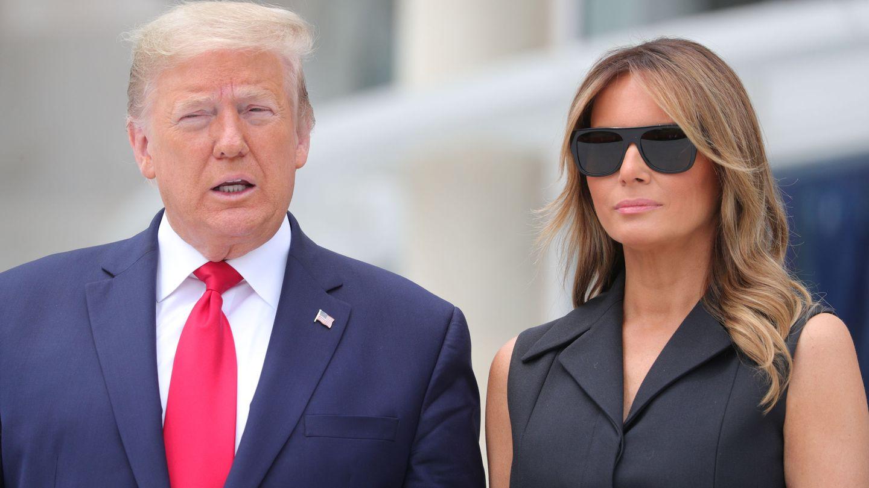Donald Trump junto a Melania. (Reuters)