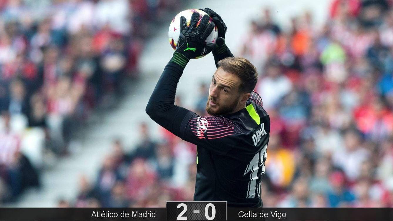 Foto: Jan Oblak fue de los más destacados en la victoria del Atlético de Madrid ante el Celta de Vigo. (EFE)