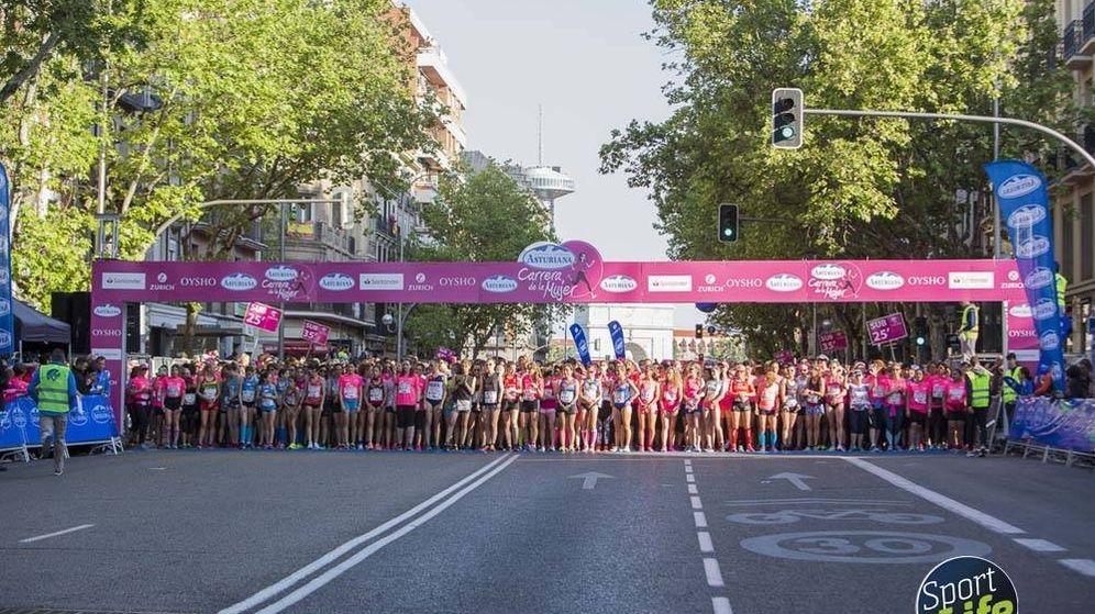 Foto: Preparadas, listas, ya. Salida de la Carrera de la Mujer de Madrid de este año.