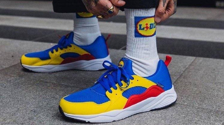 Las zapatillas y calcetines corporativos de Lidl