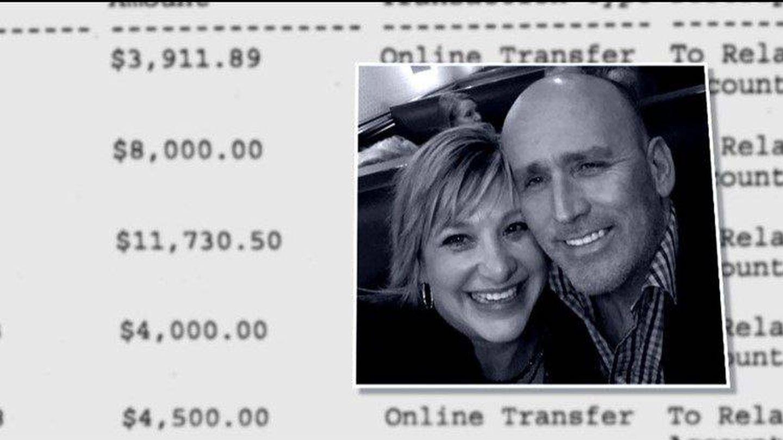 Los extractos bancarios proporcionados por Laurie a la televisión americana.