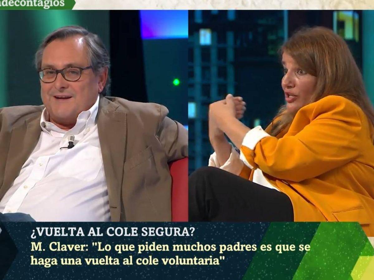 Foto: Marhuenda y Claver, en 'La Sexta noche'. (Atresmedia).