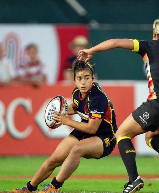 Foto: Patricia García en un partido con la Selección (Patriciagarciarodriguez.com).