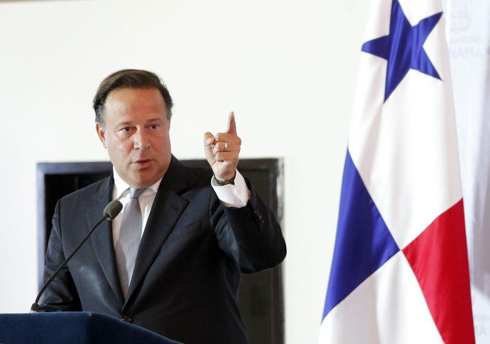 Foto: El presidente Juan Carlos Varela hablan en la instalación de la Comisión de Alto Nivel para los Servicios Internacionales y Financieros (Cansif) (Efe).