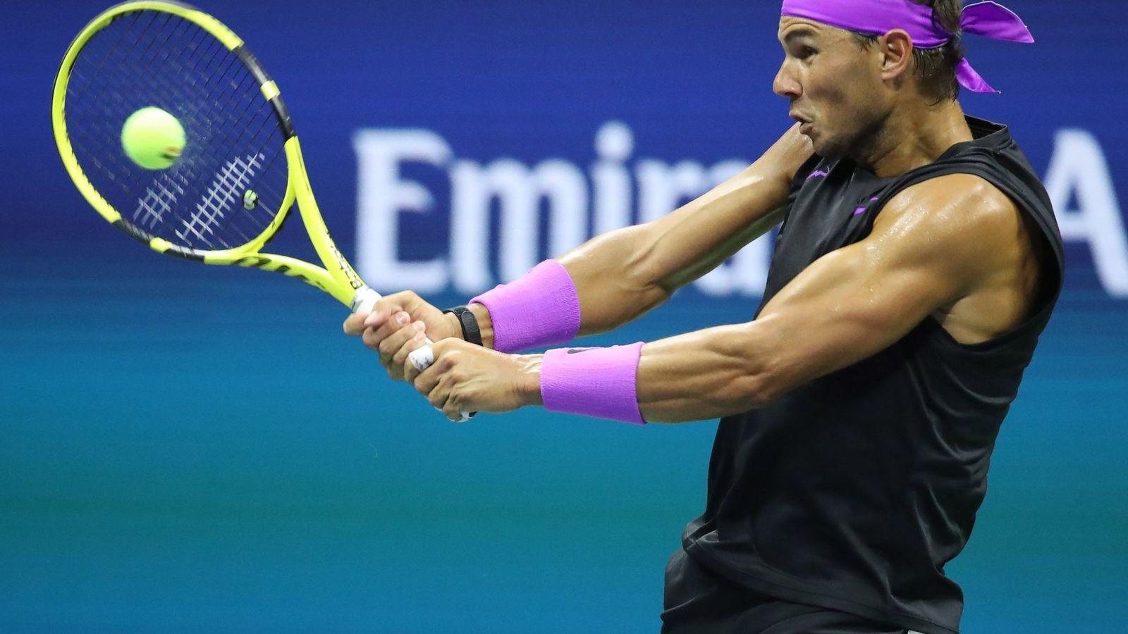 Foto: Rafa Nadal ganó a John Millman en su debut en el US Open. (EFE)