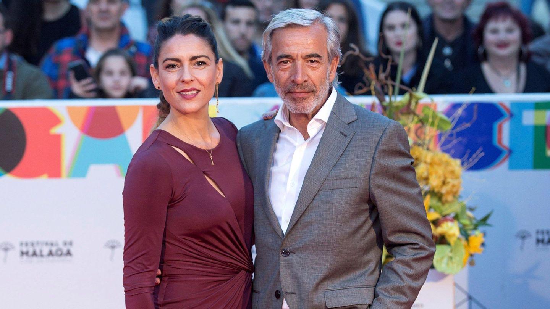 Imanol Arias e Irene Meritxell, en la clausura del XXII Festival de Cine en Español de Málaga en 2019. (EFE)