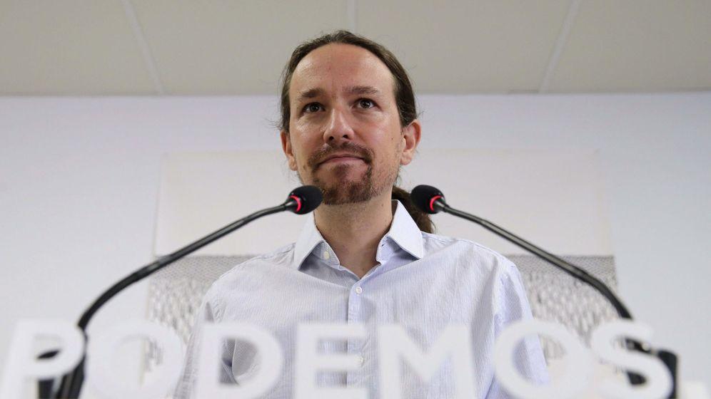 Foto: El líder de Podemos, Pablo Iglesias, durante una rueda de prensa en la sede del partido en Madrid. (Efe)