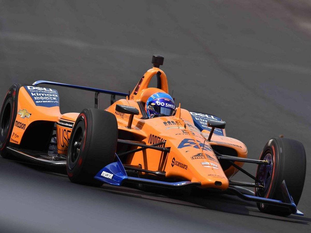 Foto: Fernando Alonso, durante la clasificación en Indianápolis de 2019. (IndyCar)