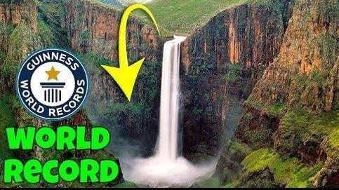 Se acercaron a una cascada para grabar un vídeo y batieron un récord Guiness