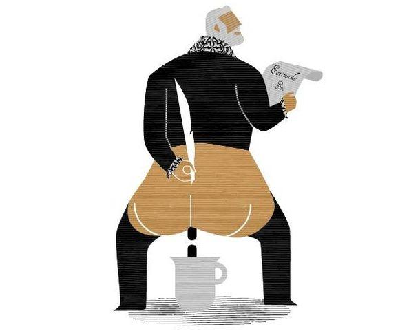 Foto: Ilustración de José María Lema para 'Gracias y desgracias del ojo del culo'