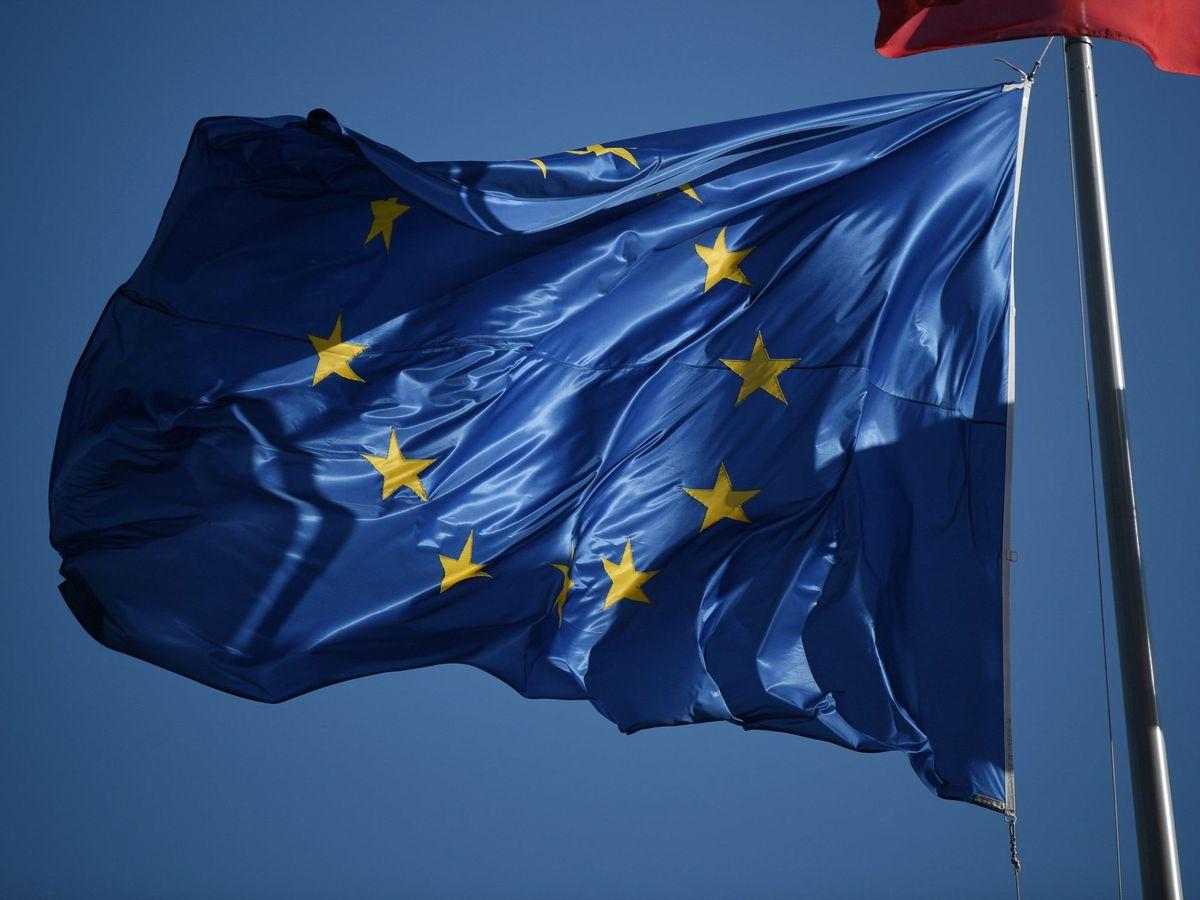 Foto: Bandera de la Unión Europea, en Estrasburgo.