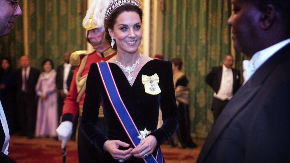 Foto: Kate Middleton, durante la recepción al cuerpo diplomático. (Getty)