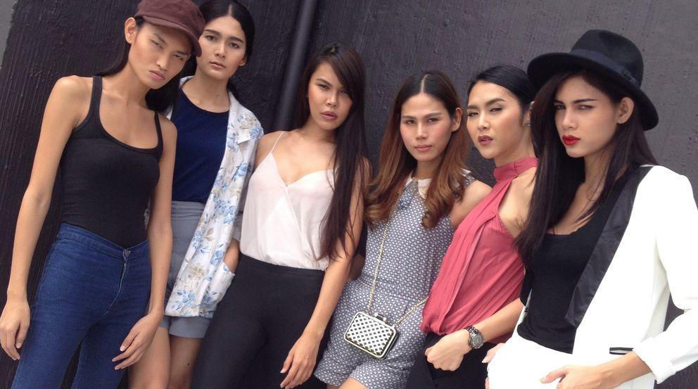 Foto: De izquierda a derecha, Ef, Bee, Sarina, Park, Ariana y Hana, modelos transexuales de Apple Model Management (Mónica G. Prieto).