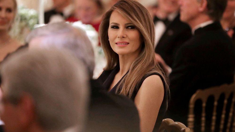 Foto: Melania Trump durante el baile de gobernadores (Gtres)
