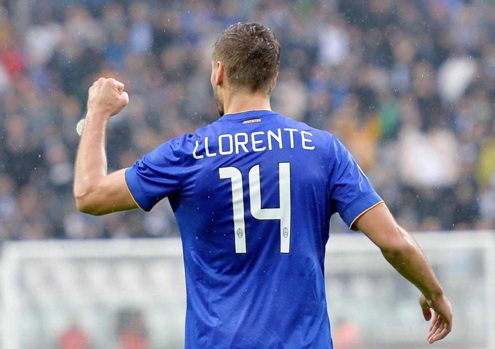 Foto: Fernando Llorente celebra uno de sus dos goles al Parma (EFE)