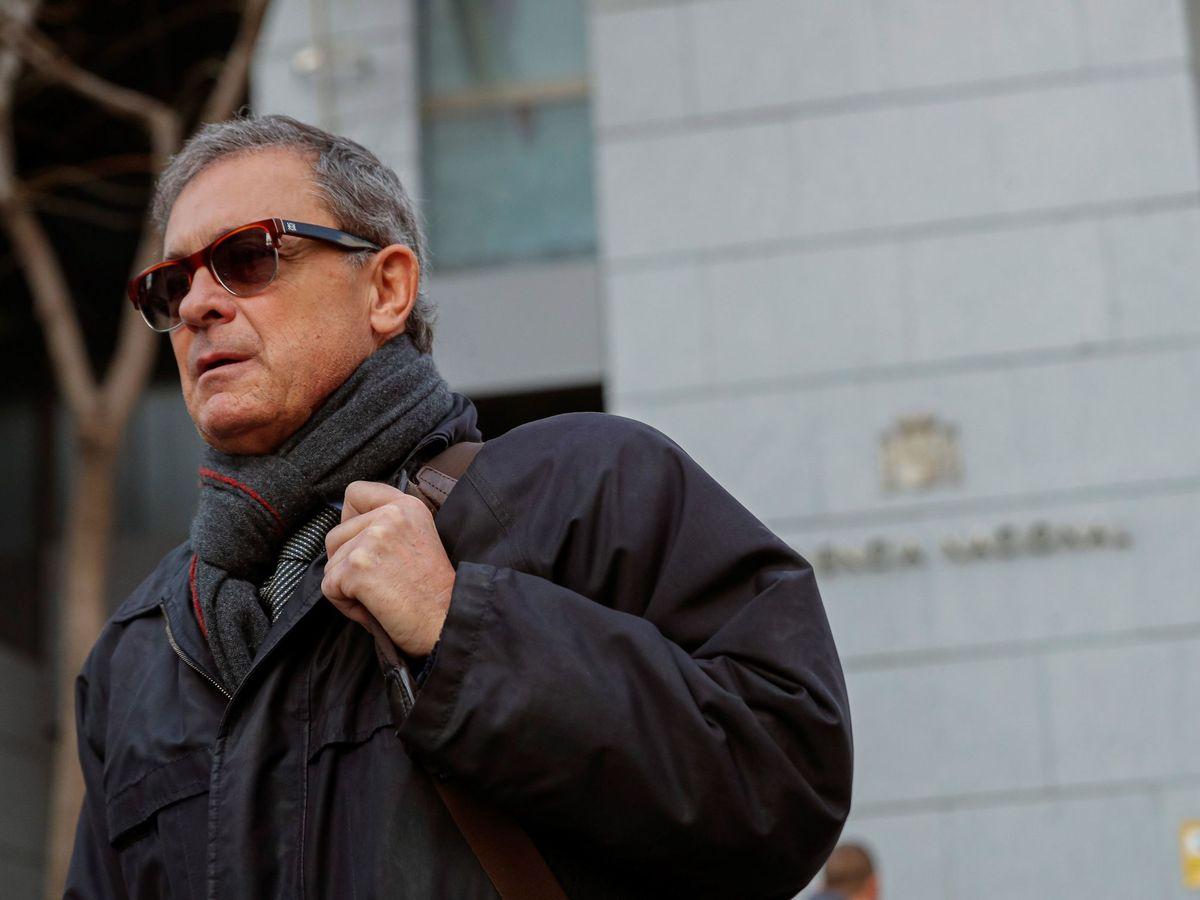Foto: Jordi Pujol Ferrusola, a la puerta de la Audiencia Nacional. (EFE)