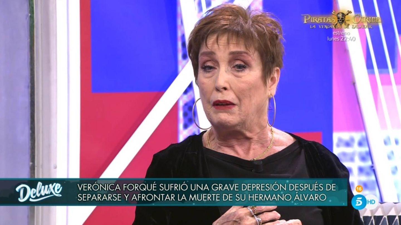 Verónica Forqué, en 'Sábado Deluxe'. (Telecinco).
