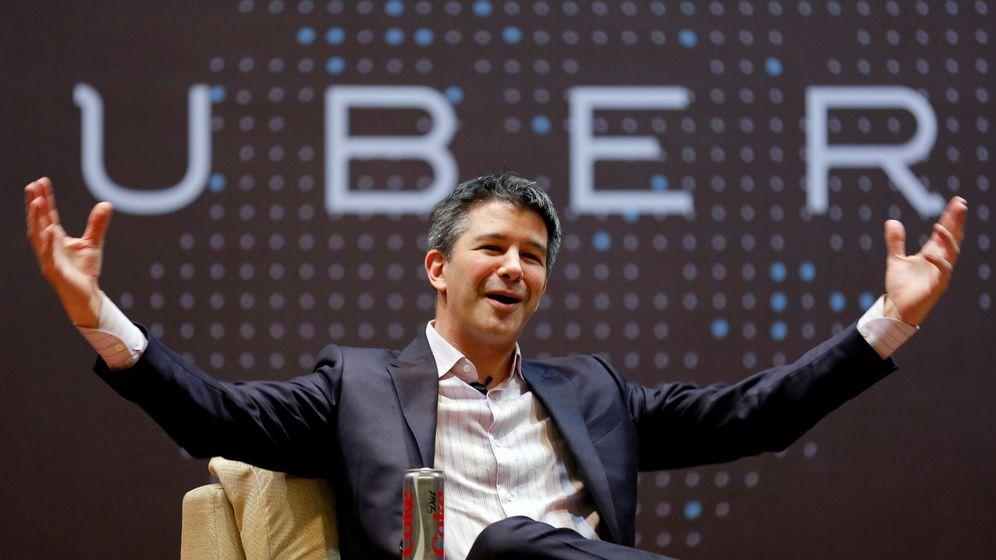 Foto: El ex CEO de Uber, Travis Kalanick, en una charla cuando todavía dirigía la empresa. (Reuters)