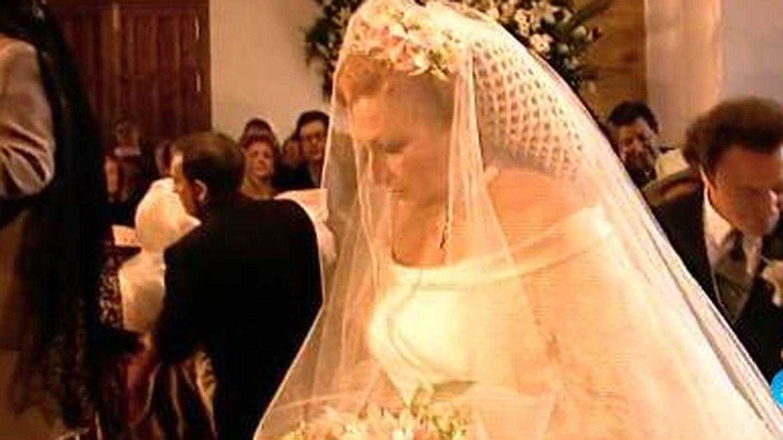 Rocío Jurado, en su boda. (Mediaset)