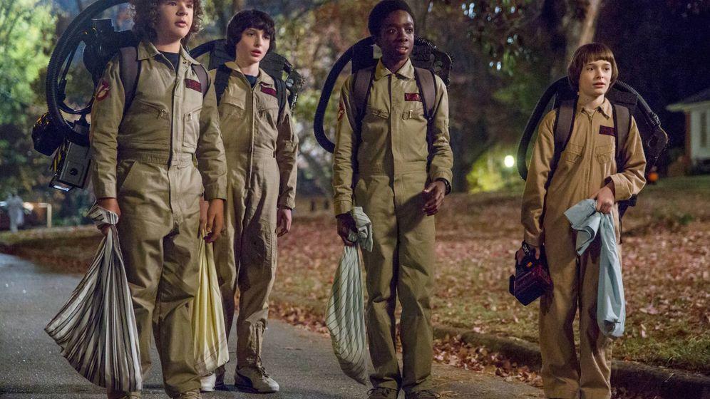 Foto: El cuarteto más famoso y joven de televisión vuelve a reunirse en Stranger Things