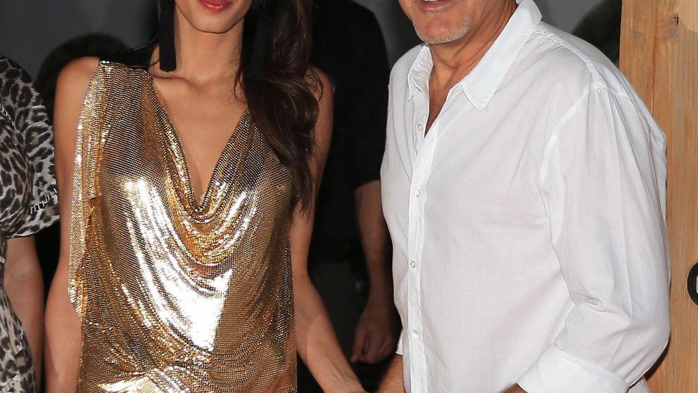 George Clooney, vacaciones en Ibiza con Amal Alamuddin y Cindy Crawford