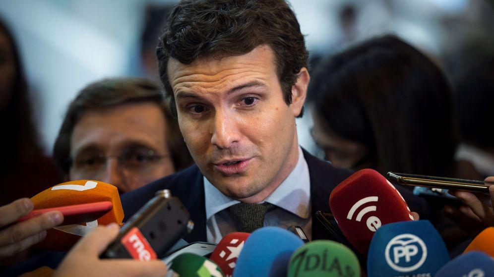 Foto: Pablo Casado a su llegada a Fitur esta semana. (EFE)