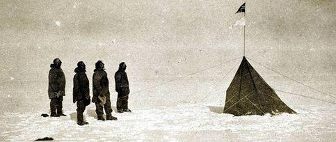 La única foto de la primera expedición al Polo Sur, descubierta en Australia
