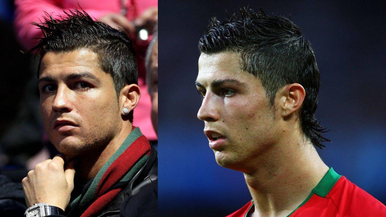 La llegada de la cresta al cabello de Cristiano Ronaldo. (Getty)