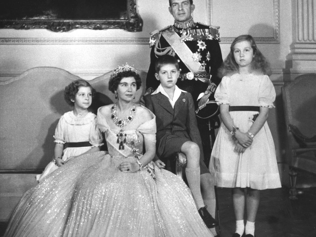 Foto: La familia real griega, en Tatoi. (Alamy)