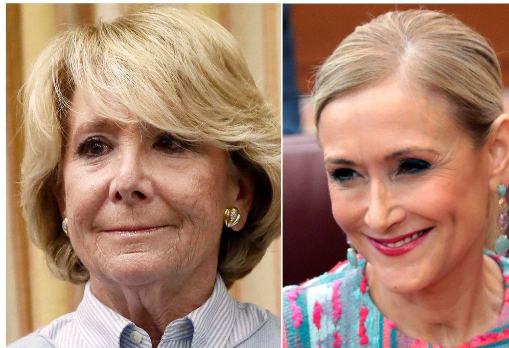 Foto: Las expresidentas de la Comunidad de Madrid Esperanza Aguirre y Cristina Cifuentes. (EFE)