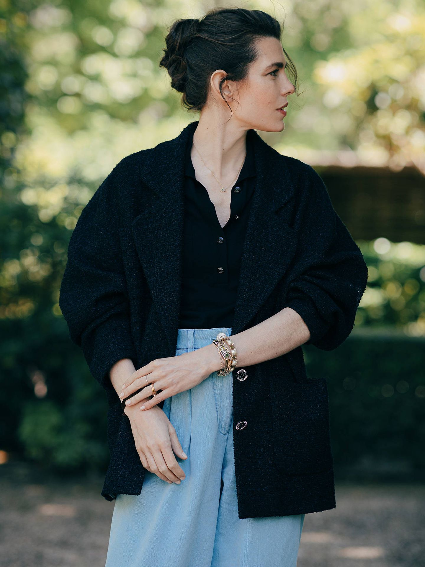 Carlota Casiraghi en otro encuentro literario de la firma Chanel. (Cortesía Chanel)