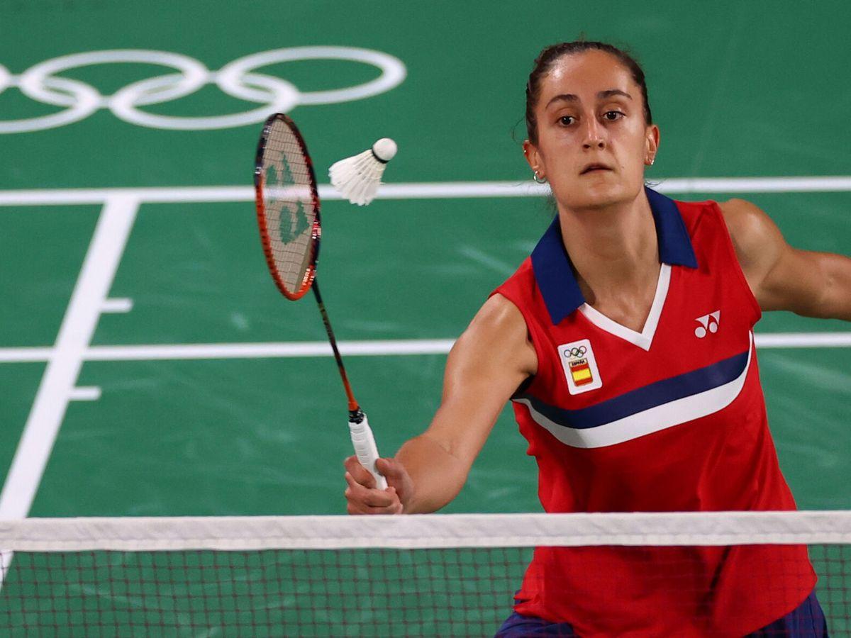 Foto: Clara Azurmendi, en su debut olímpico contra la coreana An Se-Young. (REUTERS)