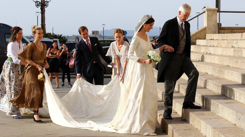 La novia junto a su padre. (Gtres)