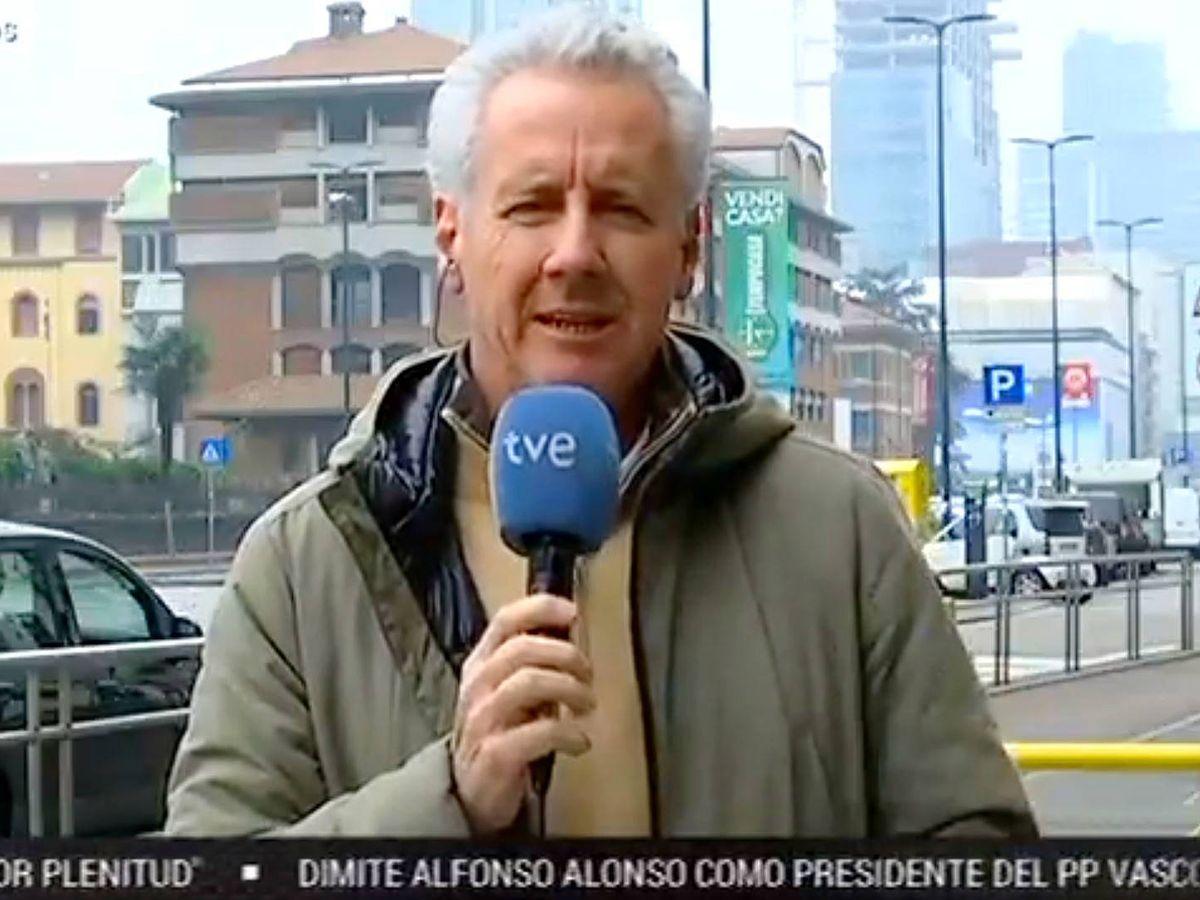 Foto: Lorenzo Milá en TVE. (Twitter)