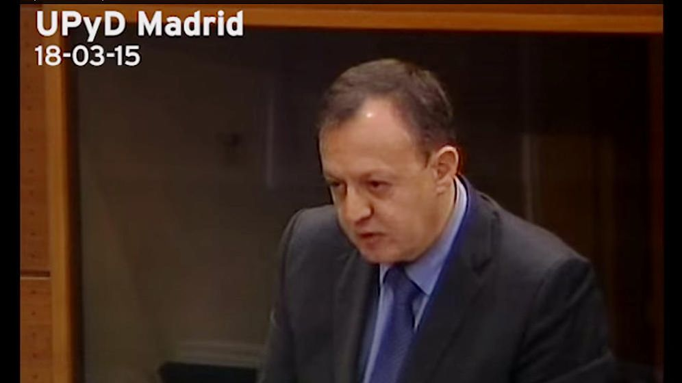 Foto: Alberto Reyero, diputado autonómico por UPyD en Madrid. (canal de Youtube UPyD Asamblea de Madrid)